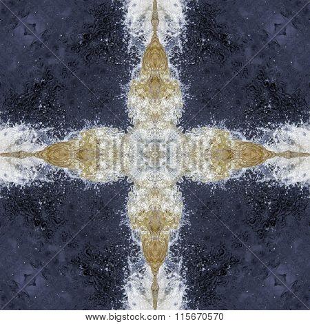 kaleidoscope square: splashing water