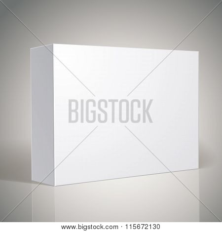 Package White Box Design, Template For Your Package Design, Put Your Image Over The Box In Multiply