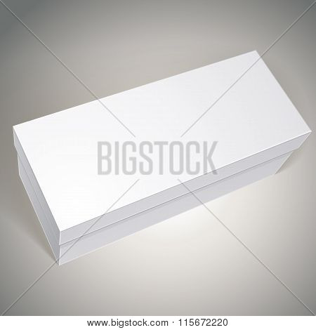 Vector Blank Box, Template For Your Package Design, Put Your Image Over The Pack In Multiply Mode, I