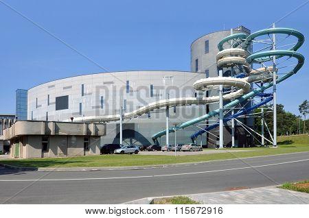 A modern waterpark