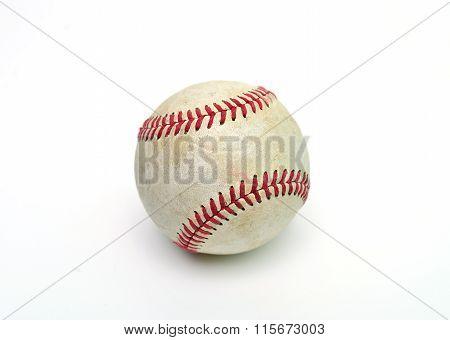 Baseball Ball Over White
