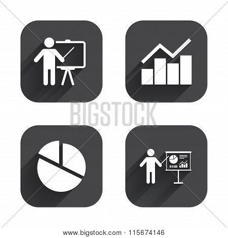 Diagram graph Pie chart. Presentation billboard.