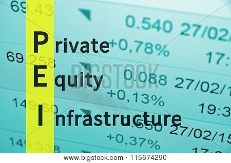Private equity infrastructure