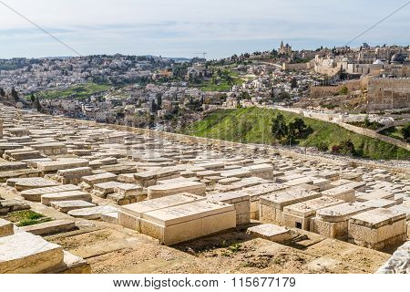 Jewish Cemetery On The Mount Of Olives, Jerusalem