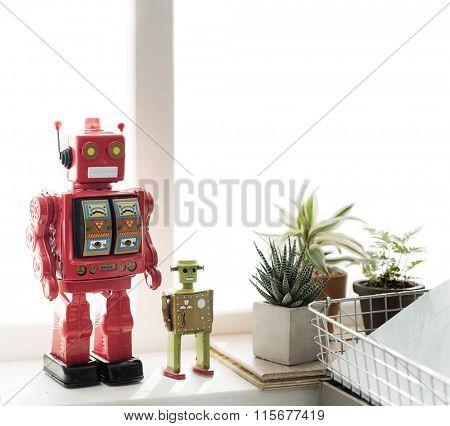 Control Robot Robotic Gadget Metal Object Science Concept