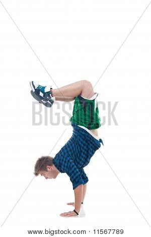 Young Bboy Standing On Hands