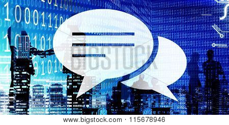 Chat Speech Bubble Communication Conversation Concept