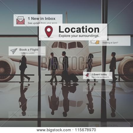Business People Corporate Travel Airport Concept