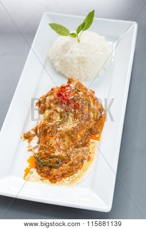 Chicken Fillet Red Curry with jasmine rice