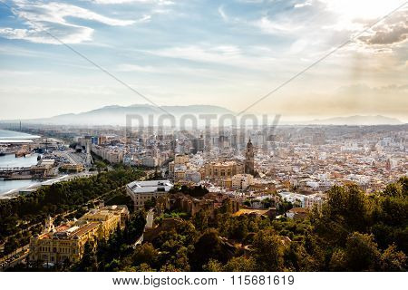 Malaga view from the heights