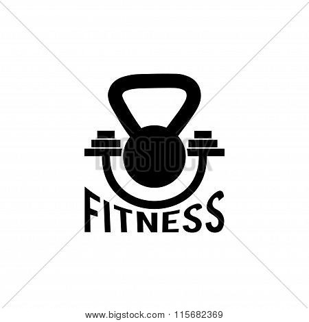 Kettlebell And Barbell Fitness Vector Design Template