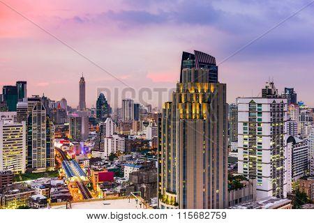 Bangkok, Thailand city skyline.