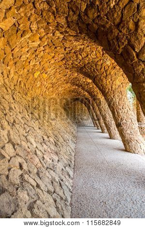 Wave Archway, Park Guell, Barcelona Spain