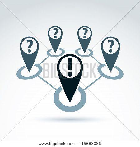 Social Information Collecting And Exchange Theme Icon, Social Media, Vector Conceptual Unusual Symbo