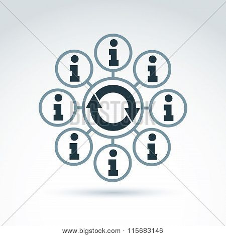 Information Collecting And Exchange Theme Icon, Vector Conceptual Unusual Symbol For Your Design.