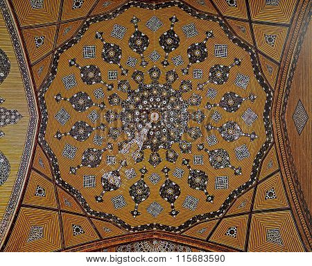 Persian Mosaic In Madrasa Mother Of The Shah,isfahan,iran