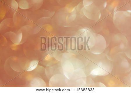 Wonderful Romantic Soft Pearl Orange Bokeh Background