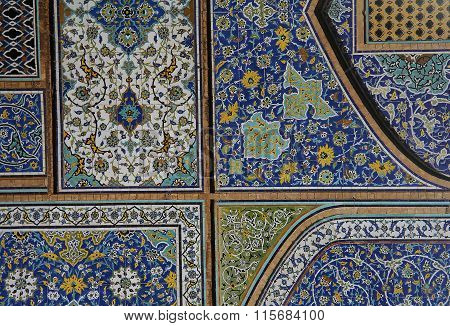 Islamic Mosaic In Jameh Mosque Of Isfahan, Isfahan,iran
