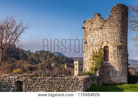 Festung Turm Der Stadt Viviers Frankreich