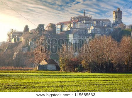 Viviers Cityscape in the atmospheric Dawn Light
