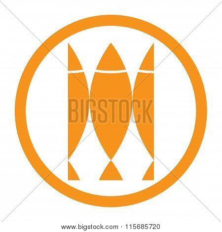 Fish Icon. Fish label. Fish emblem. Vector illustration.
