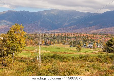 Beautiful Fall Landscape In , New  Hampshire, Usa