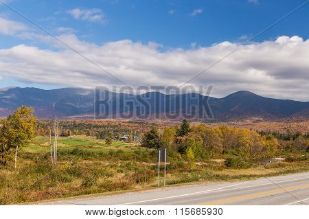 Autumn Landscape In , New  Hampshire, Usa