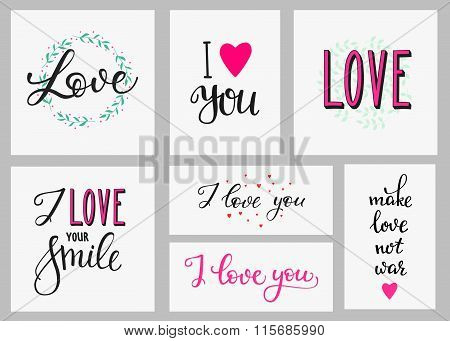 Romantic Love Inspiration Lettering Set