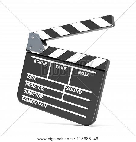 Movie clapperboard. 3D