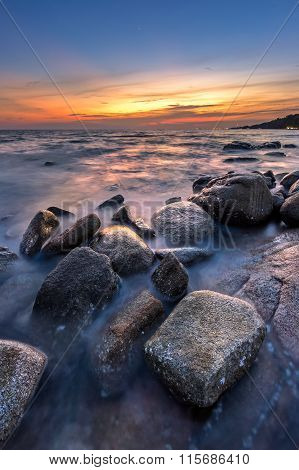 Thailand Coastline - Lan Hin Khao Beach, Rayong