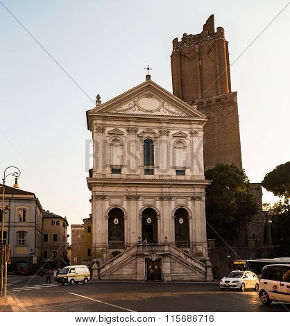 Torre Delle Milizie And Other Buildings In Rome