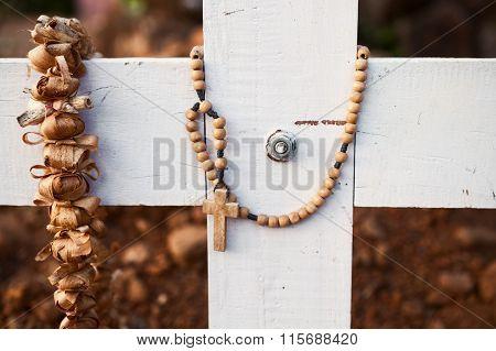 Wooden Grave Cross