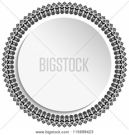 Floral Ornament With Volume Place For Text