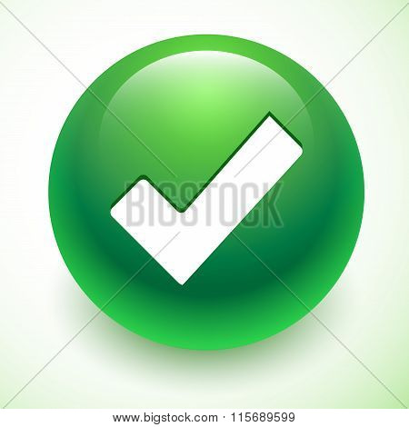 Accept Green Symbol Isolated