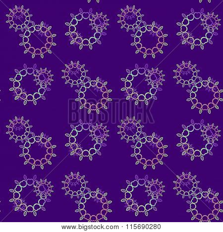 Seamless floral pattern purple pink violet green