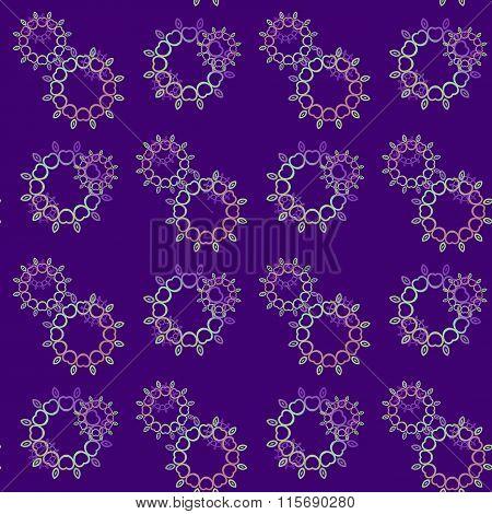 Seamless floral pattern purple pink violet green