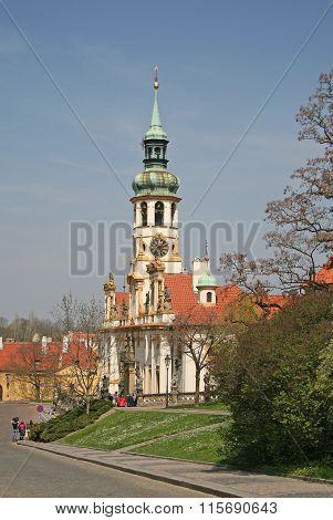 Prague, Czech Republic - April 24, 2010: The Birth Of Christ Church Of Loreto In Prague
