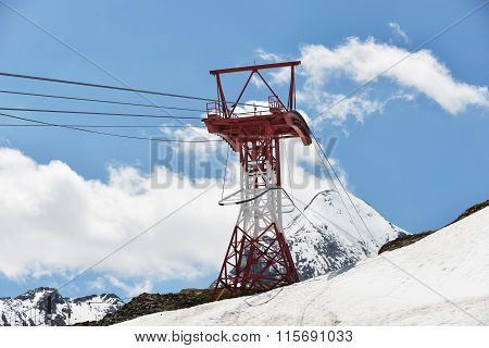 Cableway At Mountains