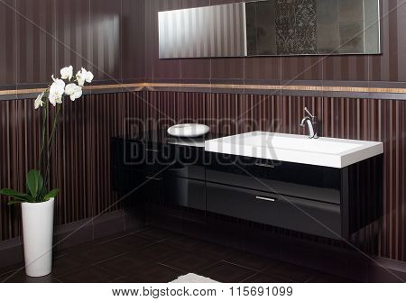 Modern Bathroom Sink And Bollard- Bathroom Interior
