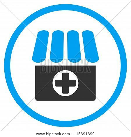 Drug Shop Circled Flat Icon