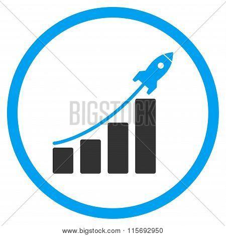 Startup Sales Circled Icon