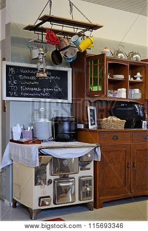 Corner kitchen.