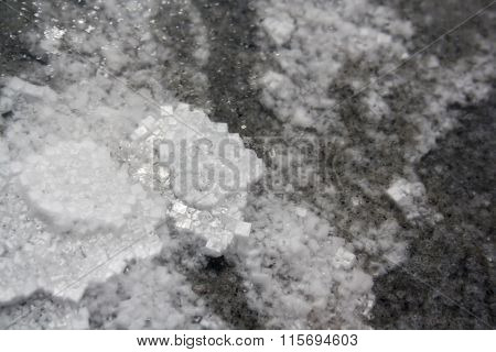 Salt Lake Elton. Salty Water At Daytime