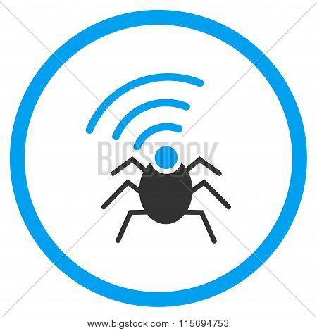 Radio Spy Bug Rounded Icon
