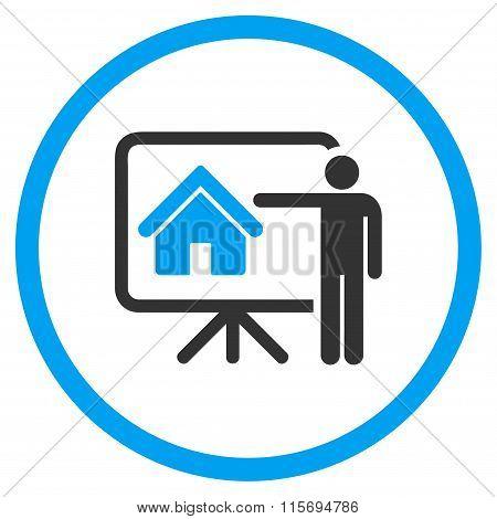 Realtor Presentation Circled Icon
