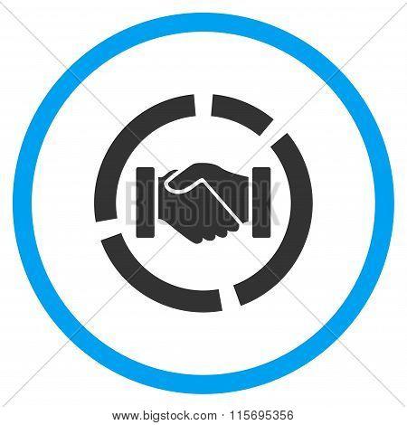Handshake Diagram Circled Icon