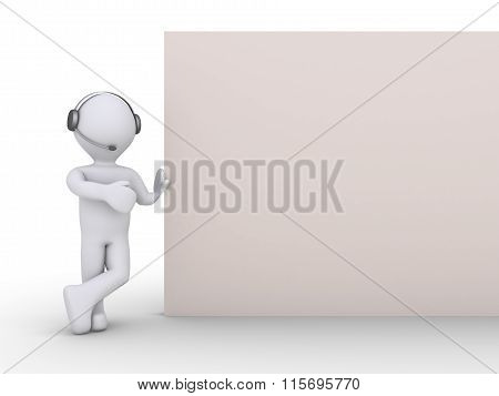 Operator With A Blank Sign