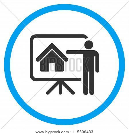 Realtor Presentation Rounded Icon