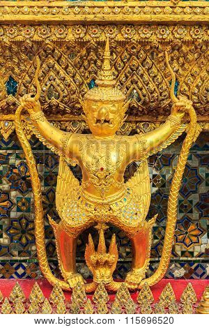 Golden Garuda Of Wat Phra Kaew In Bangkok