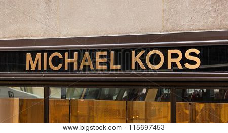Sign Of Michael Kors Store In New York City